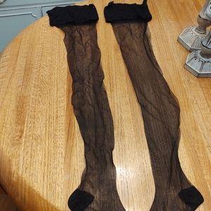 Black Sheer French Stockings.